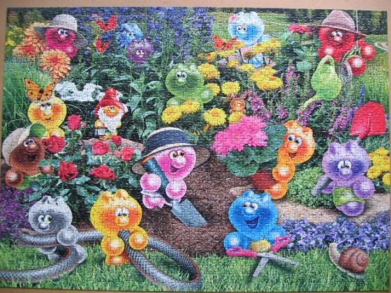 Gelini Gartenarbeit-Ravensburger-1500 Teile