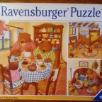 Ein Tag bei der Bärenfamilie, 3 x 49 Teile, Ravensburger