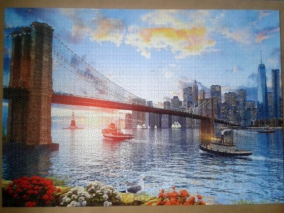 Brooklyn Bridge by Dominic Davison ( 2016 ) 4000 Pieces ( Educa Puzzle )