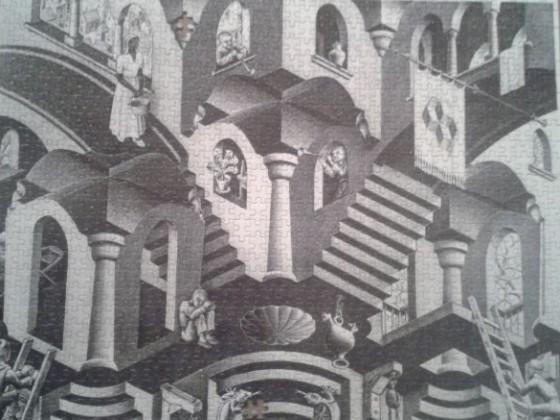 M.C. Escher - konkav und konvex - 1000 Teile