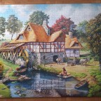 Water Mill Cottage 2000 Pieces ( Castorland Puzzle )