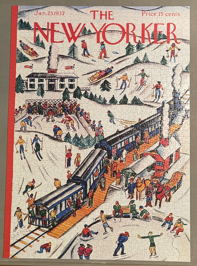 "Winter Weekend – Cover ""The New Yorker"", 23. Januar 1937"