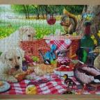 Welpen-Picknick, 1000 Teile (Aldi)