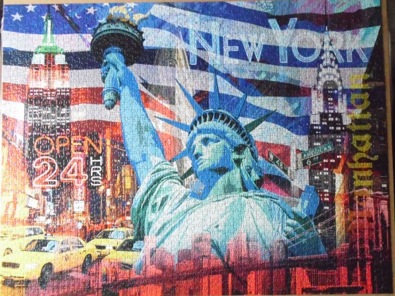 Adventskalender-Puzzle New York Collage