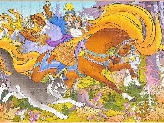 Step-Puzzle - Das Märchen von Iwan Zarewitsch, dem Feuervogel und dem grauen Wolf, 1000