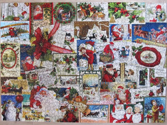 Adventskalender-Puzzle Weihnachts-Collage