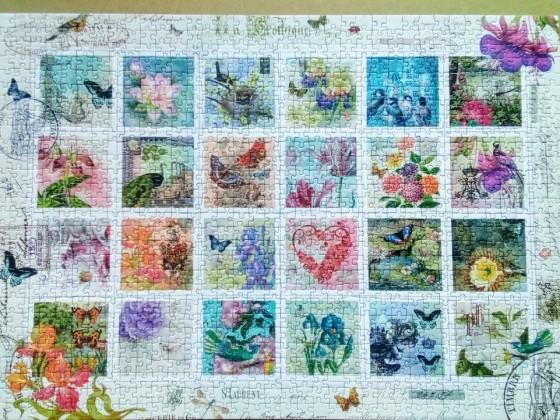 Briefmarkensammlung-Ravensburger-1000 Teile