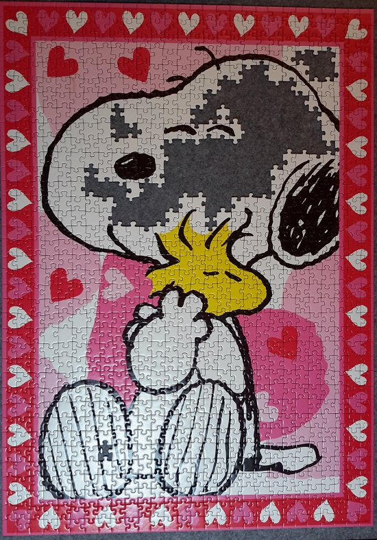 Snoopy - Love is in the Air, Ravensburger 15191, 1000 Teile (Fehlteilpuzzle)