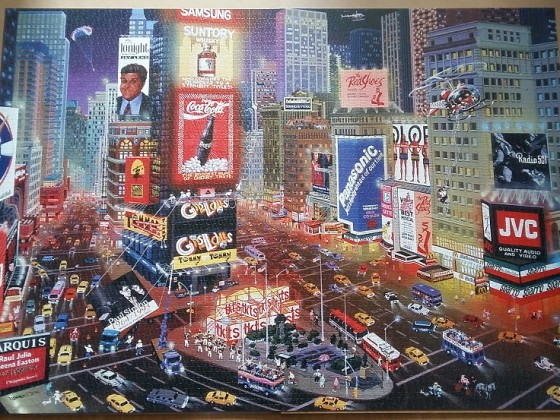 An Evening in Times Square by Alexander Chen 8000 Pieces ( Educa Puzzle )