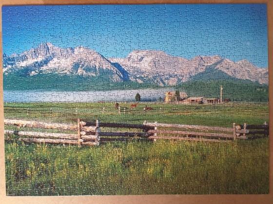 Sawtooth Mountains Custer County , Idaho , USA 1000 Pieces ( Eurographics Puzzle )