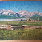 Sawtooth Mountains Custer County , Idaho , USA 1000 Pieces ( Eurographics Puzzle )