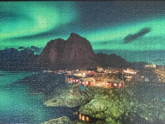 Aurora Borealis Norwegen - Nordlichter über Hamnøy