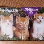 (Katzen) Mini-Puzzle, Pelikan, 48 Teile