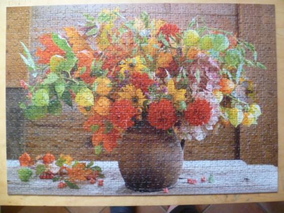 """1.000 Teile Classic Puzzle """"Blumenstrauß"""" Hersteller: F.X. Schmid"""