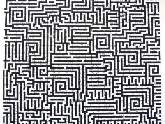 Labyrinth, 500 Teile, Remember, Art.-Nr. PU 02, gepuzzelt 2015
