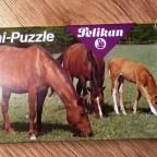 (Pferde) Mini-Puzzle, Pelikan, 48 Teile
