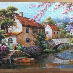 Country Village Canal  by Sung Kim 1500 Pieces ( Anatolian )