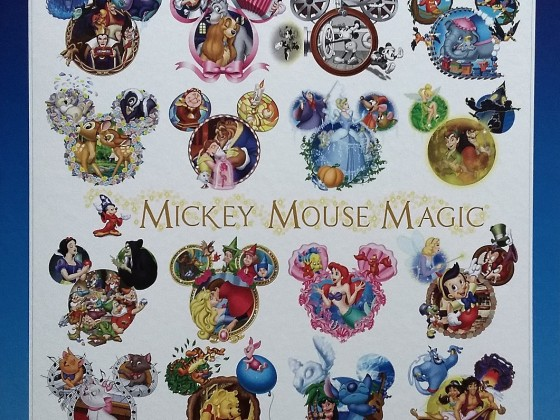 Mickey Mouse Magic, Disney, Tenyo D-1000-376, 1000 Teile
