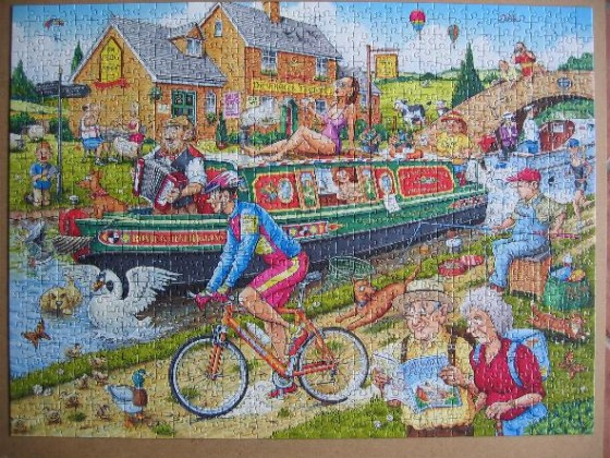 By the canal-Ravensburger-1000 Teile