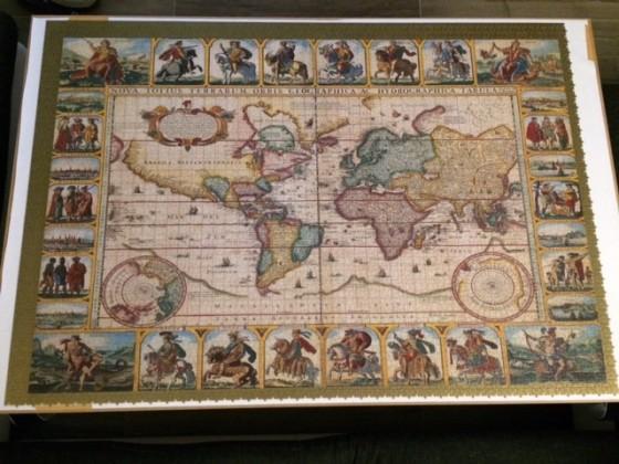 Historische Weltkarten Teil 1 (links oben) - Ravensburger 18.000