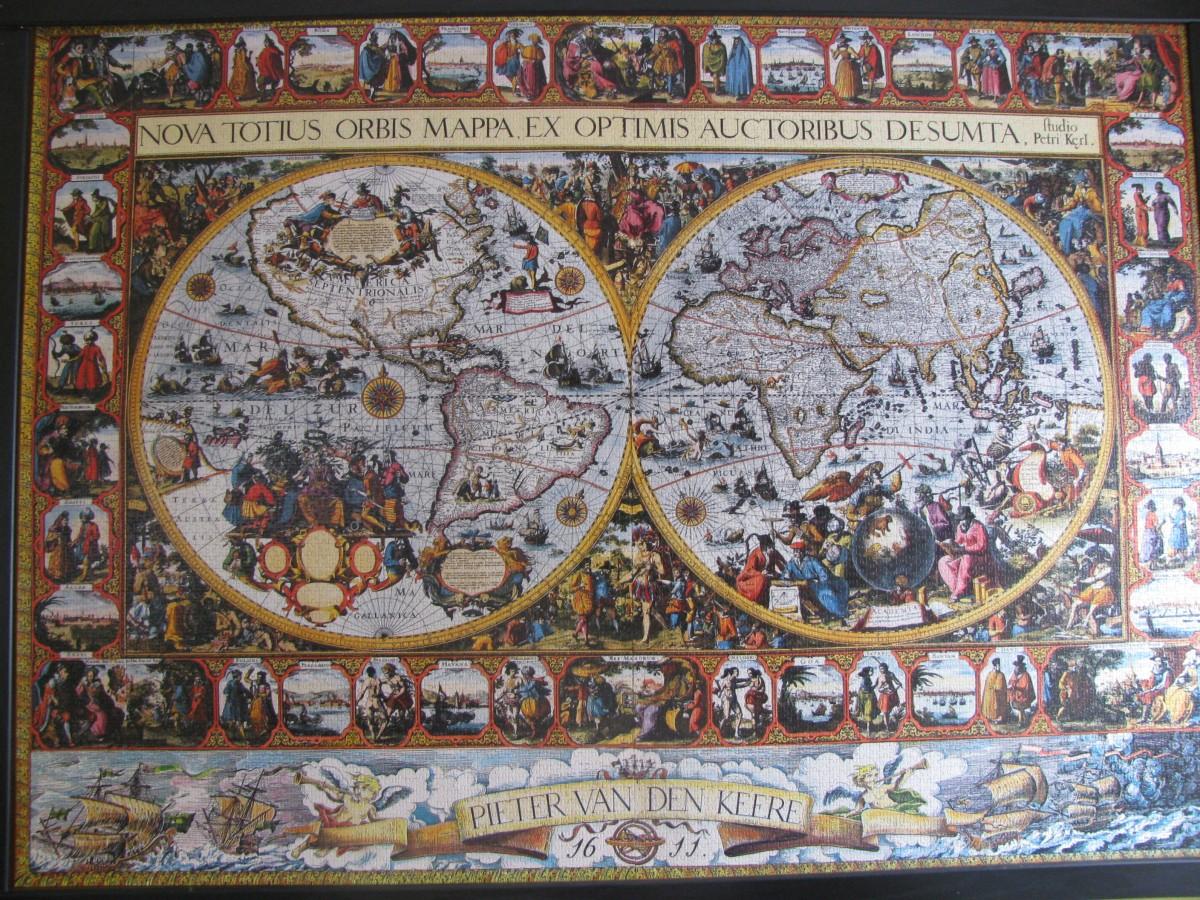 Weltkarte von 1611, Ravensburger, 9.000 Teile