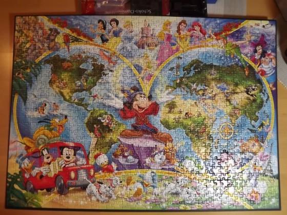 Disneys Weltkarte - Ravensburger - 1000 Teile
