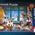 Am Puzzle-Tisch1000SCHMIDT2017Premium Quality58344693 x 493 mmBreitBestand Nr. 004