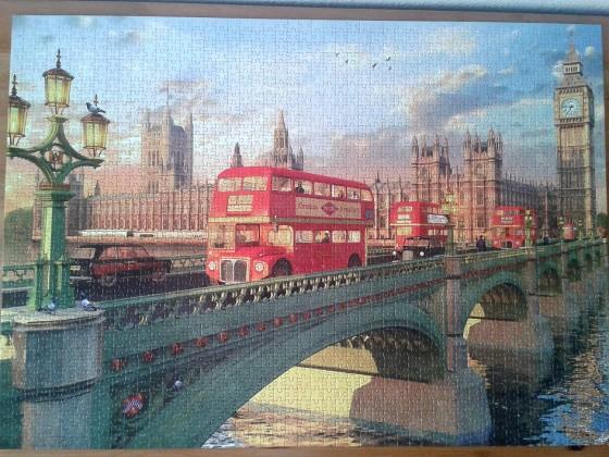 London, Westminster Bridge by Dominic Davison ( 2016 ) 2000 Pieces ( Educa Puzzle )
