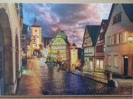 Rothenburg at Night 1000 Pieces ( Castorland Puzzle )