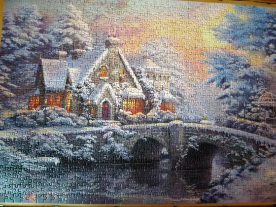 1000 Teile Thomas Kinkade: Winter in  Lamplight Manor