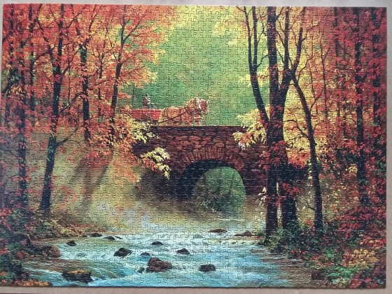 Autumn Bridge by Chris Cummings 1500  Pieces ( Sunsout )