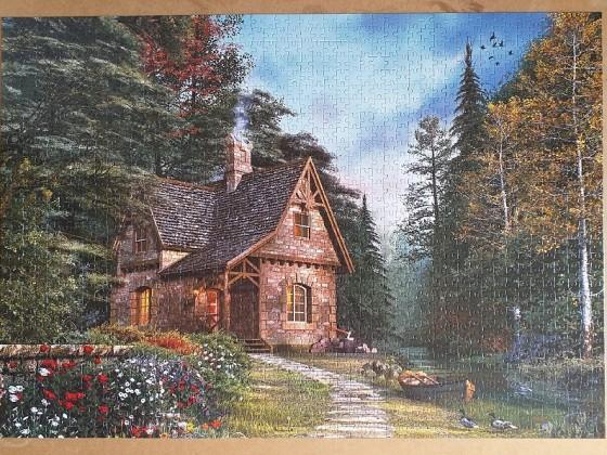 Woodland Cottage by Dominic Davison 1500 Pieces ( Art Puzzle )