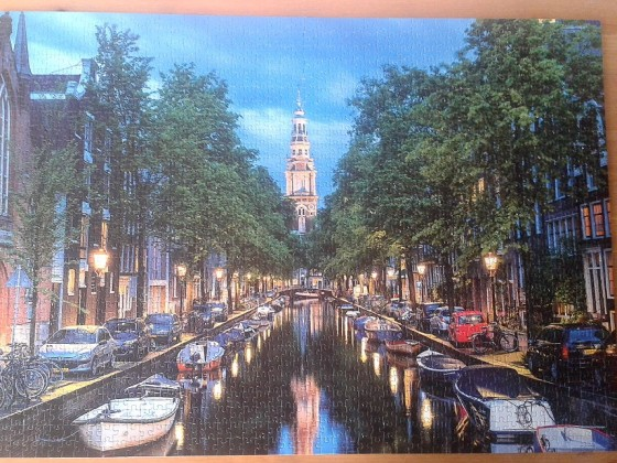 Amsterdam Canal at Dusk, by Ken Kaminsky ( 2016 ) 1500 Pieces ( Educa Puzzle )