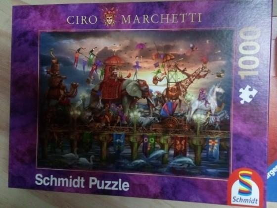 Zirkus Karawane von Ciro Marchetti-Schmidt-1000 Teile (Reserviert)