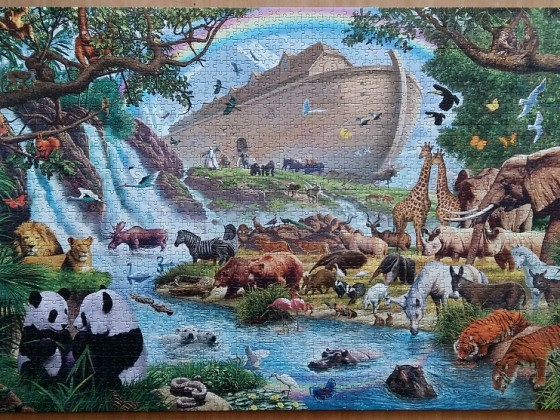 Noah's ark by Steve Crisp ( 2012 ) 2000 Pieces ( Clementoni )