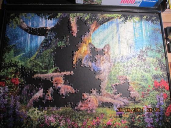 Ravensburger Wölfe im Wald 1000