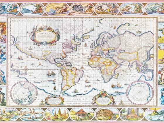 Schmidt - Historische Weltkarte, 6000