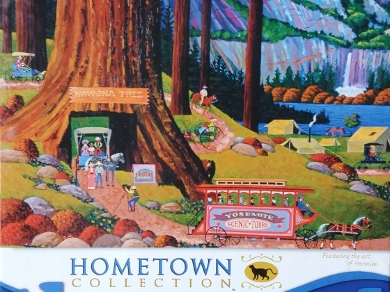 Yosemite Camping, Heronim, Mega Puzzles 09200UON, 1000 Teile, 2012