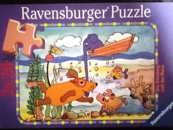 Die Maus: Hoch und tief, Ravensburger, 2 x 20 Teile