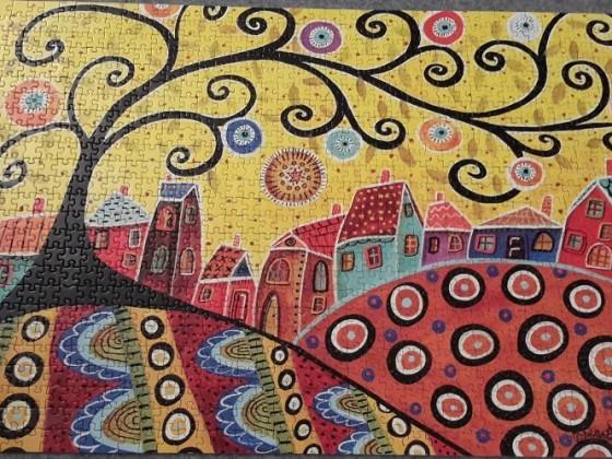 Blooming Village, Karla Gerard, Educa 16296, 1000 Teile