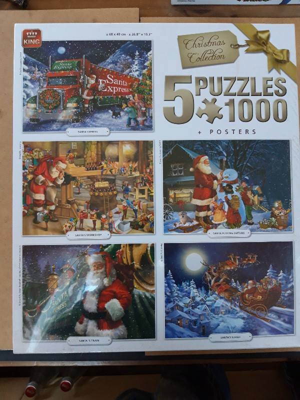 5x Weihnachfspuzzles