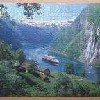 Norwegischer Fjord 1000 Pieces ( Ravensburger Puzzle )