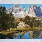 Bergsee Pordoijoch Dolomiten