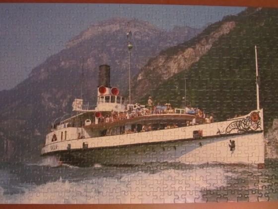 (Ausflugsschiff) 500 LIGRA 1988 Riesen Puzzle-Sortiment Nr.2810.1470 x 310 Breit Bestand Nr. 007 A