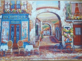 Le petit Cafe by John 'O Brien 4000 pieces ( Educa Puzzle )