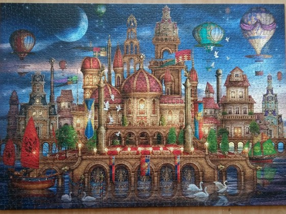 Moated Castle by Ciro Marchetti 2000 Pieces ( Schmidt Puzzle )