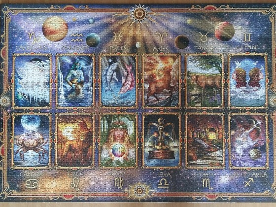 Horoscope Zodiac Signs by Ciro Marchetti 1500 Pieces ( Anatolian )