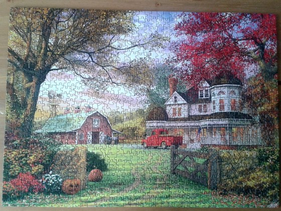 Old Pumpkin Farm by Dominic Davison ( 2015 ) 1000 Pieces. ( Eurographics )