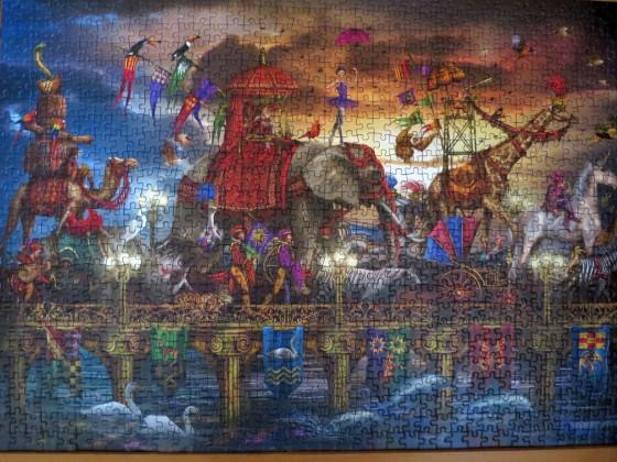 Schmidt Puzzle  1000 Teile: Ciro Marchetti :  Zirkus Karawane