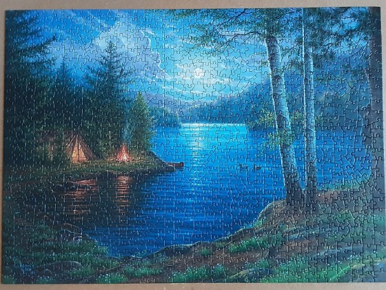 Summer Night by Abraham Hunter 1000 Pieces ( Cobble Hill )